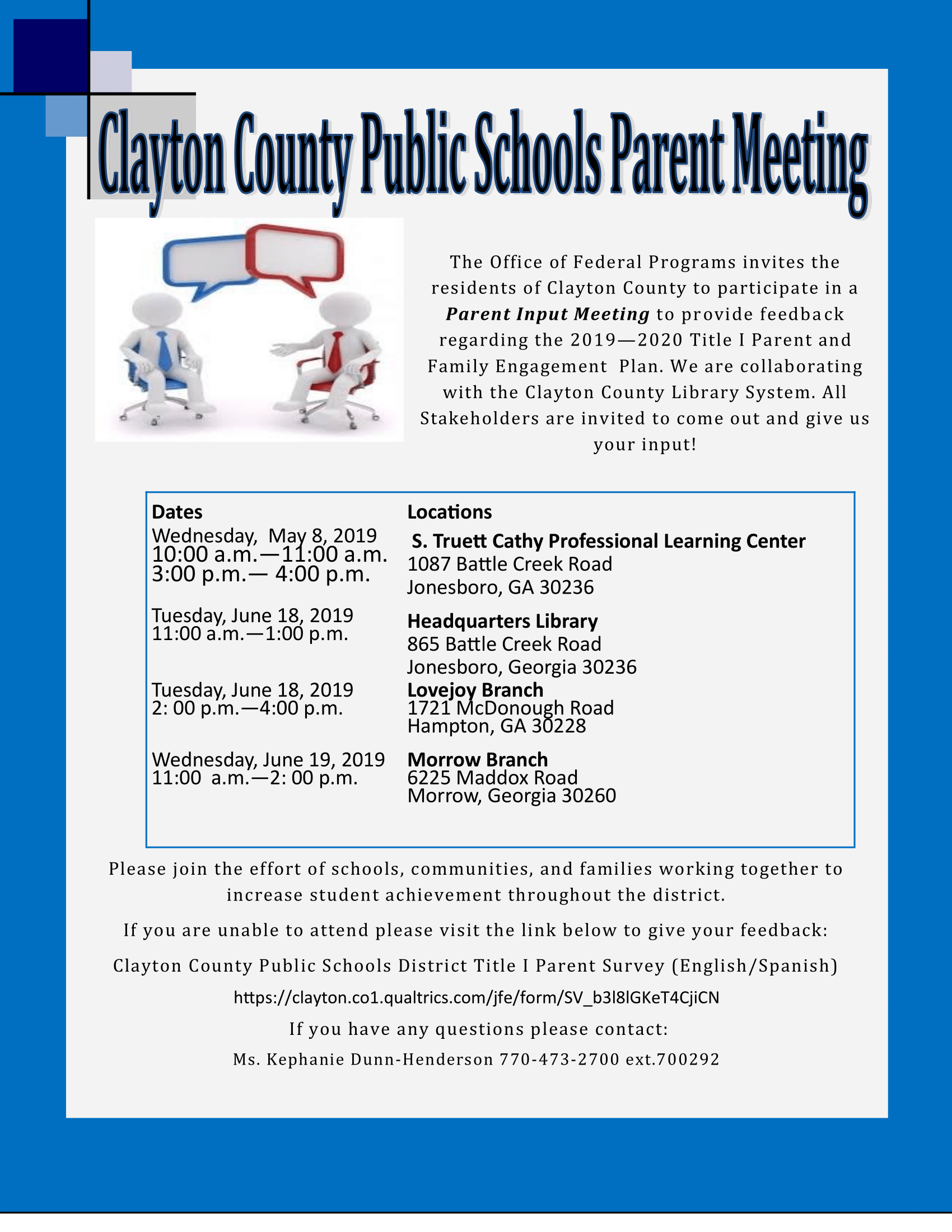 CCPS Parent Meetings